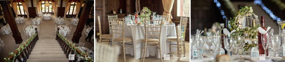 Wedding reception table layout