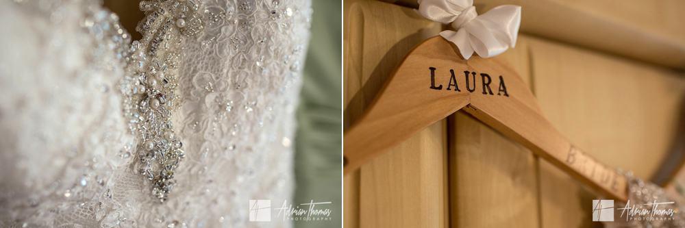 Brides wedding dress.