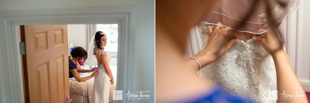 Bride dress final adjustments.