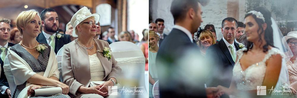 Parents watching wedding service.