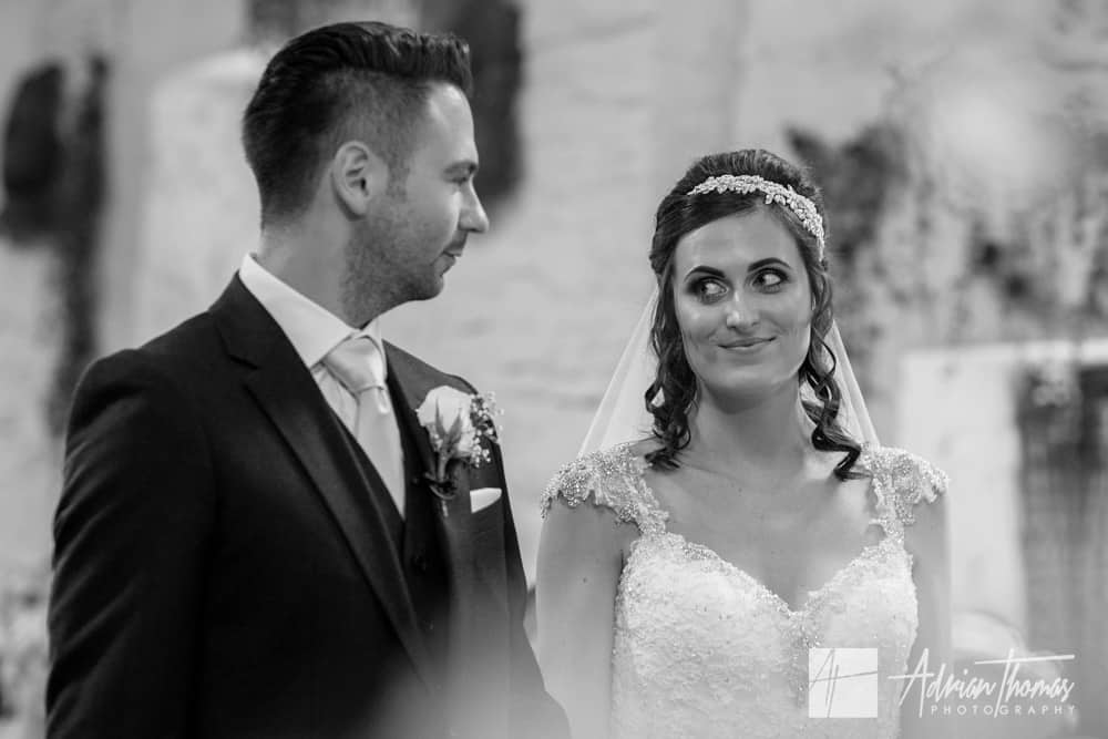 First glance with bride and groom
