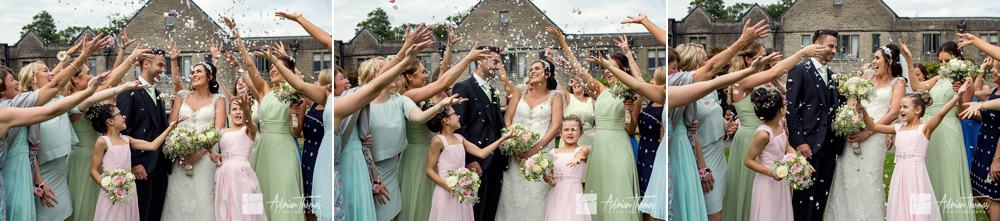 guests confetti throwing