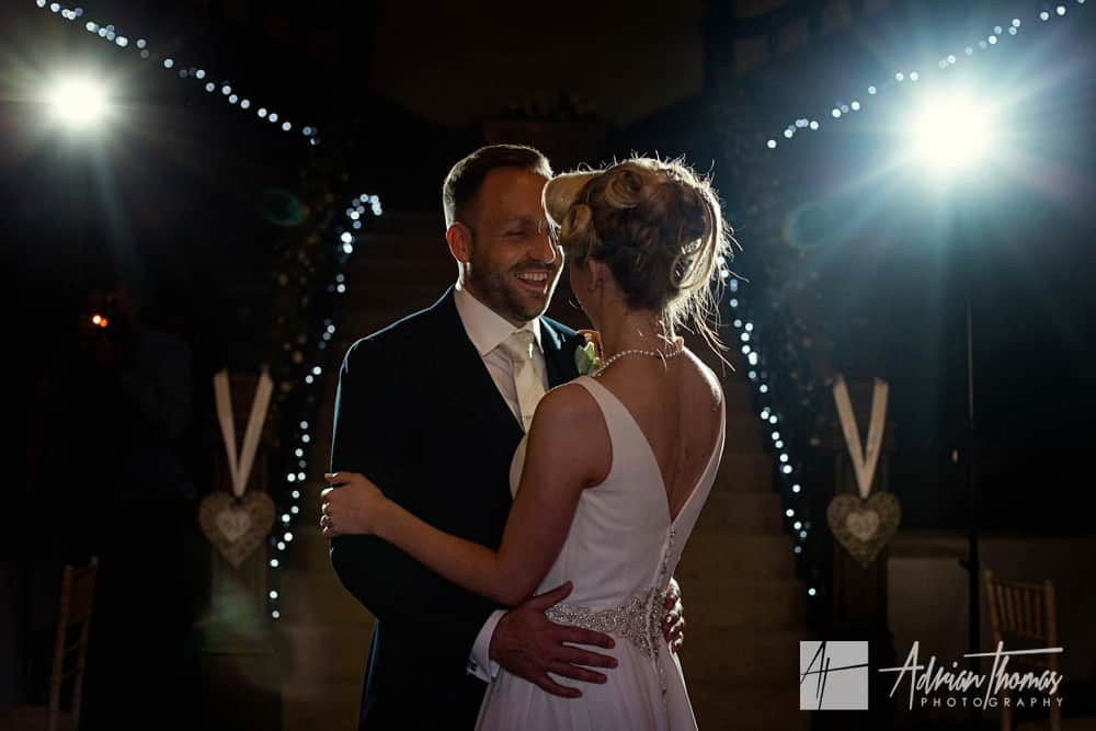 First wedding dance at Buckland Hall wedding venue