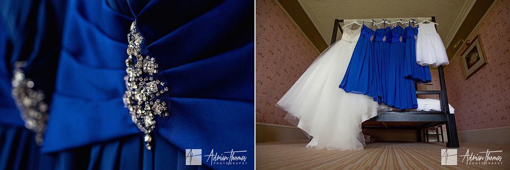 Bride and bridesmaids wedding dresses