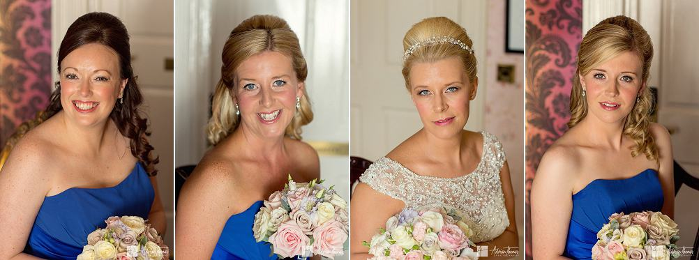 Portrait images of bridesmaids