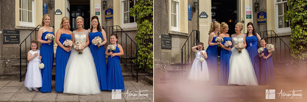 Bride and bridesmaids ready for their New House Hotel wedding.