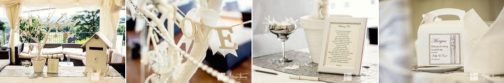 Wedding details for reception
