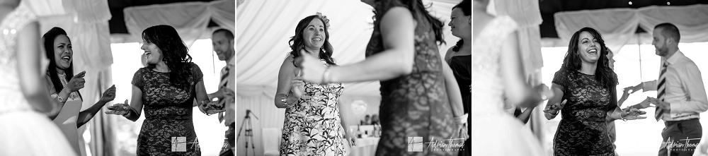Guest dancing at wedding reception