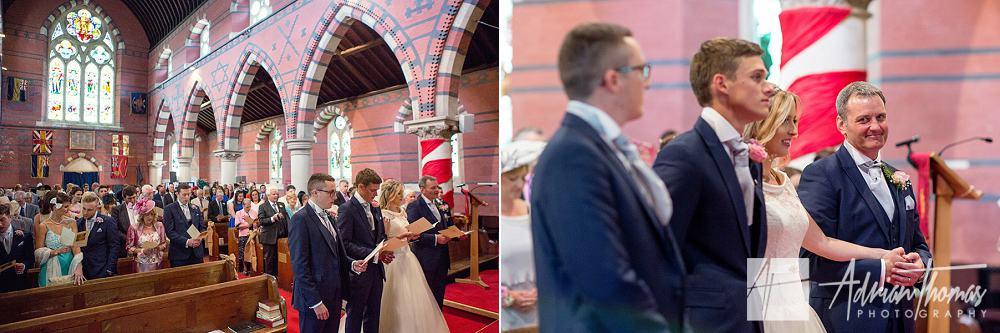 Wedding ceremony in Pontypridd at St Catherines church