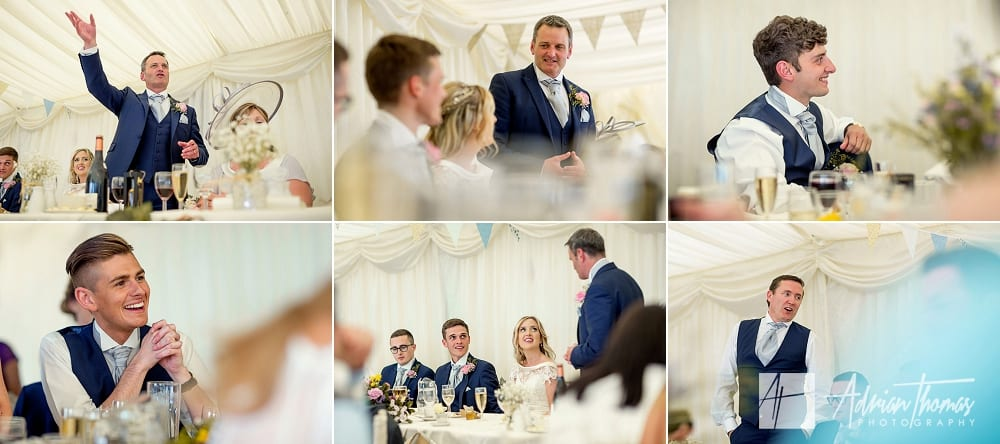 Speeches at Cardiff Wedding Venue New House Hotel and marquee