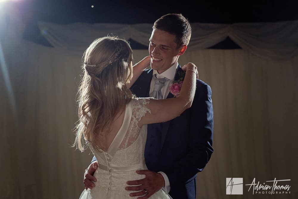 Bride and Groom first dance at their wedding reception in Cardiff