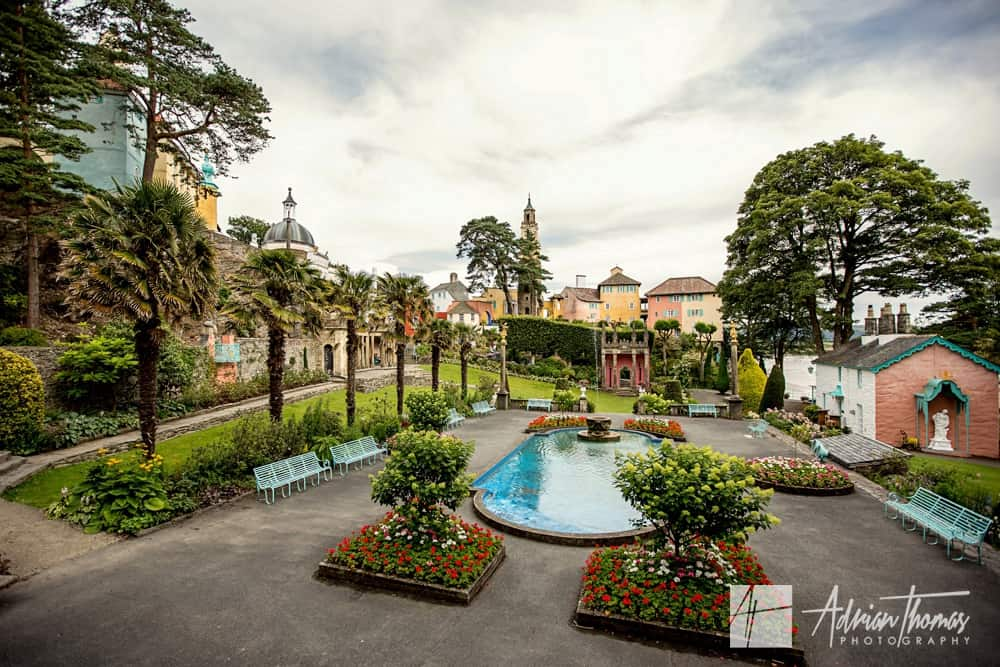 Portmeirion Village Wedding venue and grounds in Gwynedd.