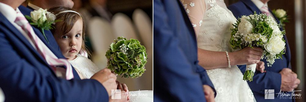 wedding flowers of bride and bridemaid