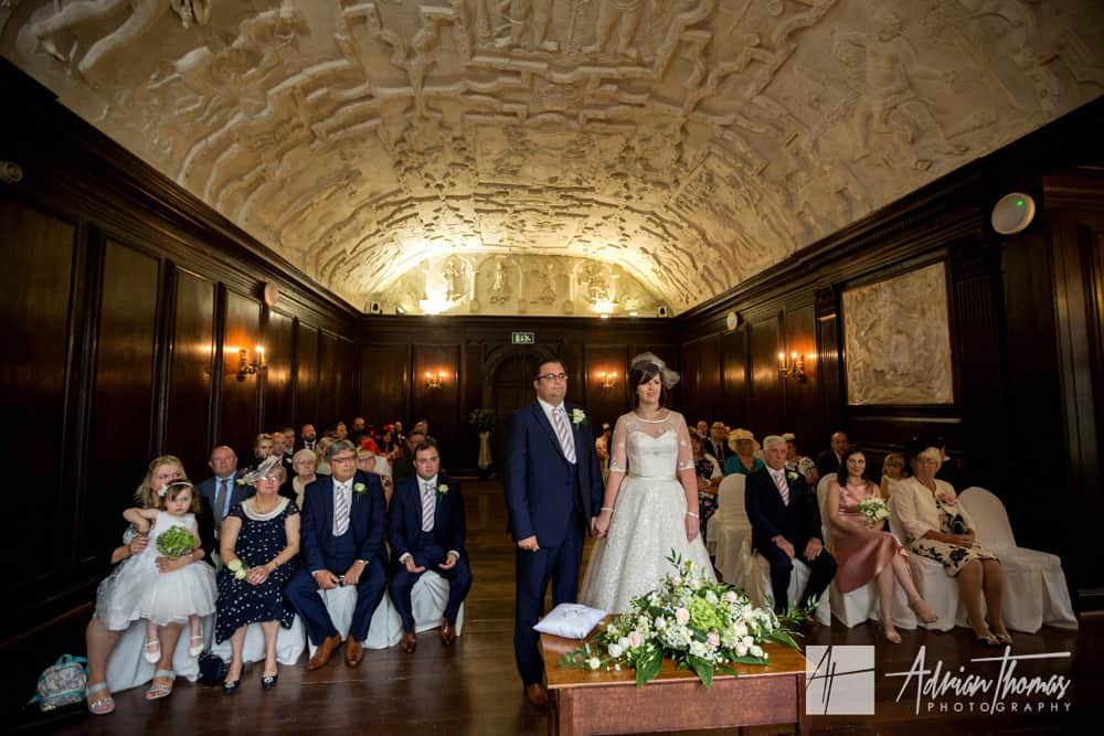Portmeirion Village wedding ceremony at Hercules Hall