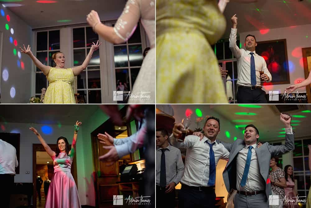 Guests enjoying a dance at wedding