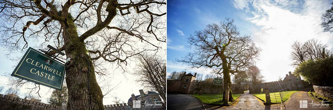 Image of Clearwell Castle gardens and entrence