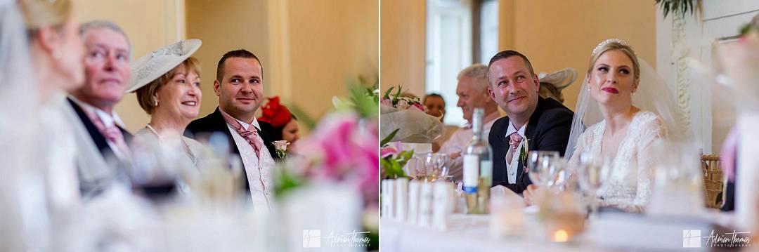 Best Man watching wedding speeches.