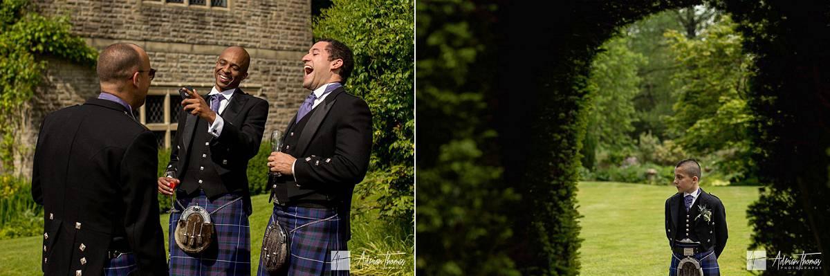 Ushers enjoying themselves and laughing.