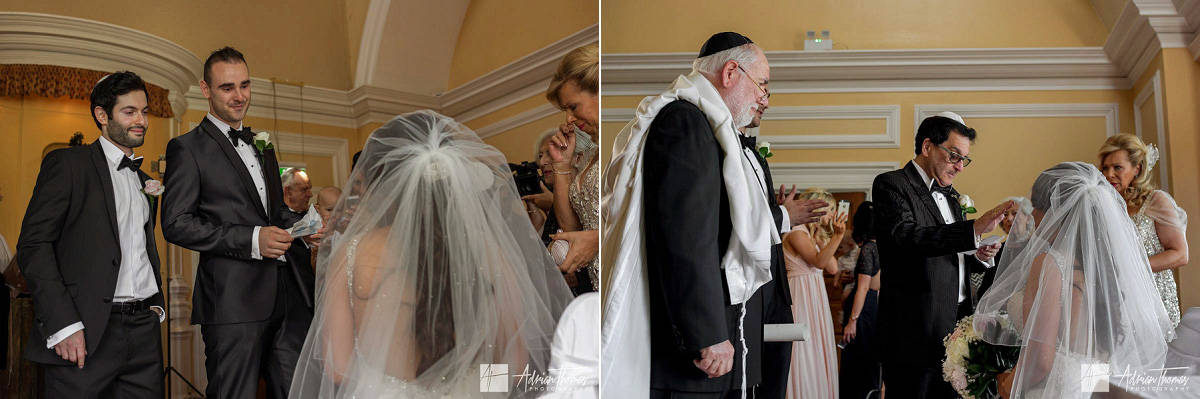 Brides father's Priestly Blessing offering his prayers and blessing.