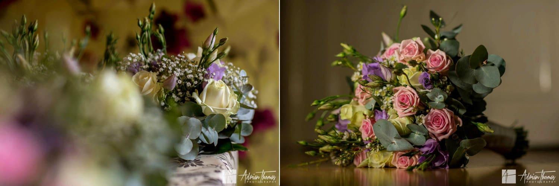 Brides bouquet and bridesmaids flowers.