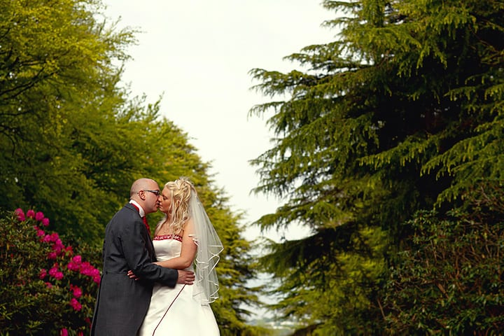 Wedding couple at Maes Manor Hotel in Blackwood.